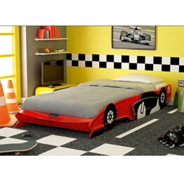 ROLLER Auto-Bett TURBO - rot - 90x200 cm -
