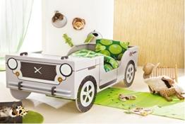 Autobett Jeep inkl. Rollrost 90*200 cm Kinderbett Safari Geländewagen Dschungel Jugendbett Jugendliege Einzelbett Bett Kinderzimmer 124 -