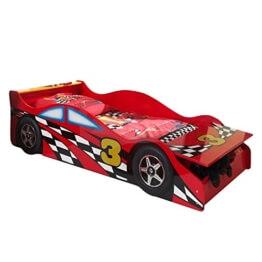 'Autobett sctdrc Toddler Race Kinderbett MDF Rot 175x 78x 48cm -