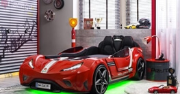Cilek GTI LED Autobett ROT mit Lattenrost Sound Fernbedienung von Möbel-Zeit -