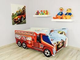 """Top Beds Baby- / Kinderbett, mit Matratze, Design """"Feuerwehrauto"""" -"""