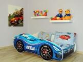 topbeds Bett für Kinder Design Auto Running Matratze inklusive -